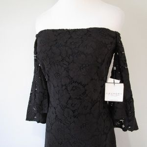 Laundry By Shelli Segal Dresses - NWT Crochet Off Shoulder Bell Sleeve Midi Dress